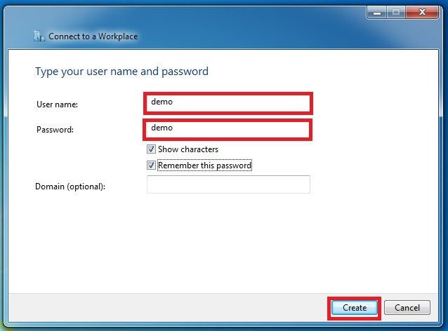 Step 7 Username and Password